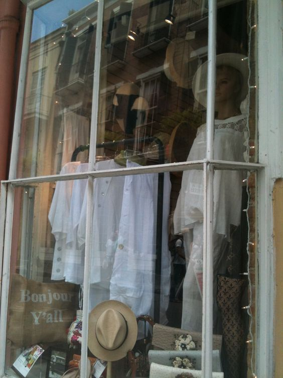 French Quarter Shop Window New Orleans Cotton And Linen Clothing Boutique Sweet Home Alabama Boutique Clothing Linen Clothes