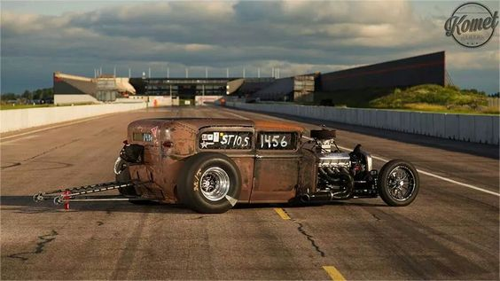A Swedish ratrod at  Tierp Arena! My favourite place to be!