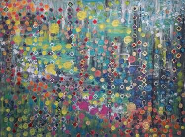 "Saatchi Art Artist Wendy Harris-Bowman; Painting, ""Jeweled"" #art"