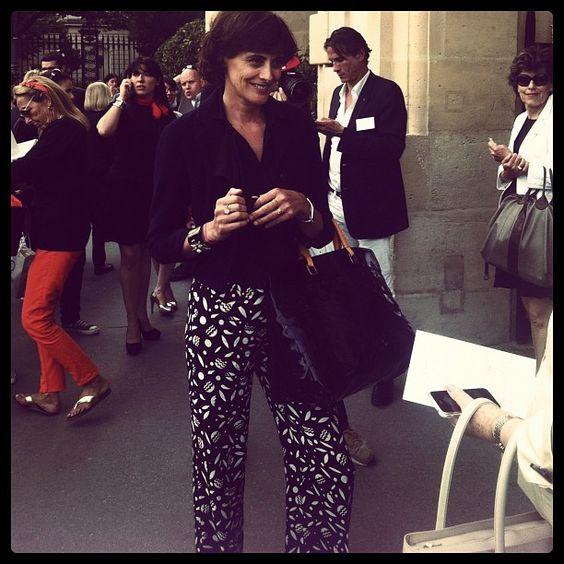#PFW #Couture Inès De La Fressange #Dior