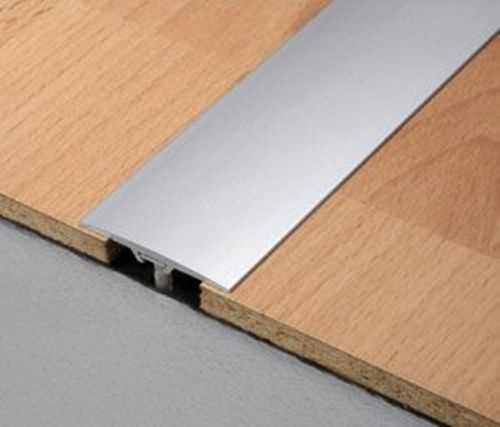 Aluminium Flat Door Bar Threshold Strips For Same Level Floors Flooring Door Bar Floor Edging