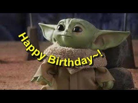 Baby Yoda Happy Birthday E Card Youtube Yoda Happy Birthday Funny Happy Birthday Gif Happy Birthday Minions Gif