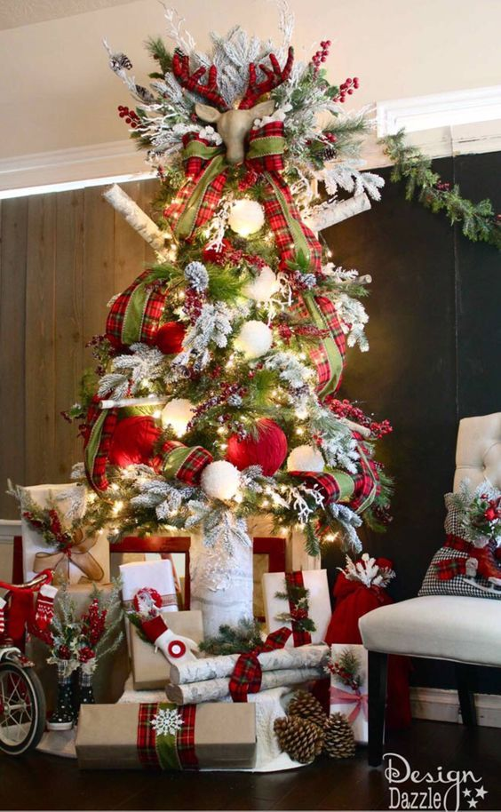 Arboles De Navidad Color Rojo Versierde Kerstbomen Kerstboom Versieringen Knusse Kerst