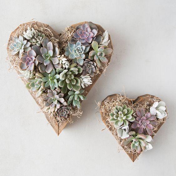 Terrain Heart Shape Succulent Planters