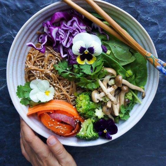 Soba noodles are always my go-to starch if I'm in a hurry – the same way  that a curry paste is my easy to use condiment to spice up any meal. Bring  the two together and we've got ourselves a winner.  This dish is easily turned either into a hot, dinner-style bowl or a light  soba salad bowl – it all depends on the accompaniments that you choose to  use (I usually just go for whatever is available in the fridge)     Makes 2 portions  Ingredients  2 garlic cloves, finely minced  thumb siz...