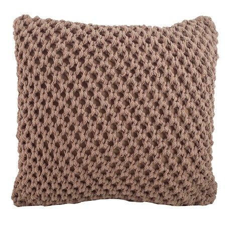 "Knitted Design Pillow Vanilla (20""x20"") : Target"