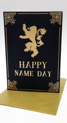 Game of thrones gifts awesome games and happy name day on for Cool game of thrones gifts