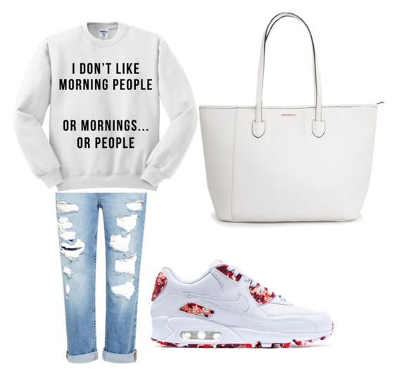 """""""Untitled #1"""" by deshawilliams025 ❤ liked on Polyvore featuring beauty, Genetic Denim and NIKE"""