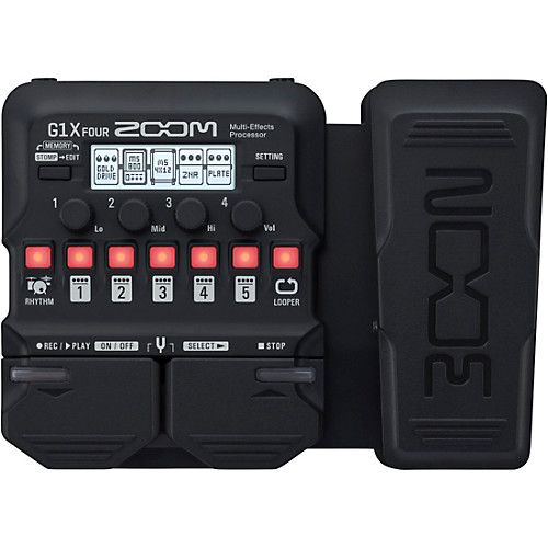 Zoom G1x Four Guitar Multi Effects Processor With Expression Pedal Effects Processor Guitar Multi Effects Acoustic Guitar Amp