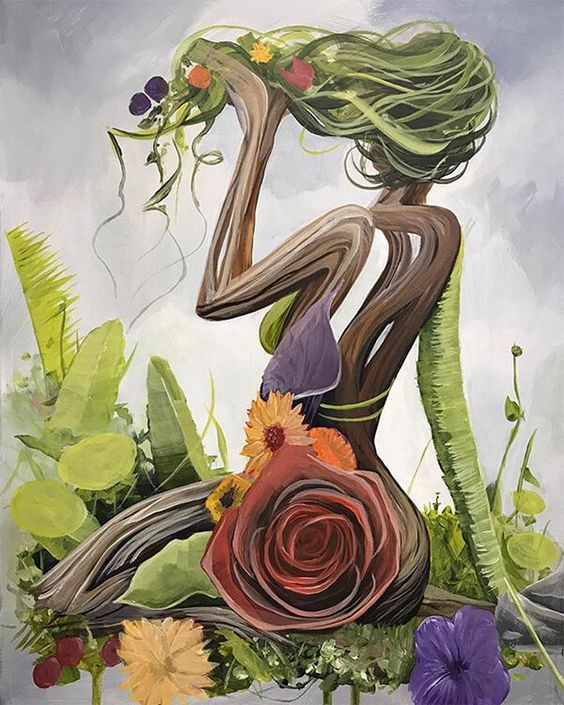 """Brian Kirhagis. """"Surreal Portraits Celebrate 'Mother Earth' With Women Made Out of Nature."""" 😍💗"""
