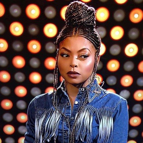 Taraji P. Henson decided on a gorgeous set of Fulani braids to promote Empire in South Africa. This look's so much...