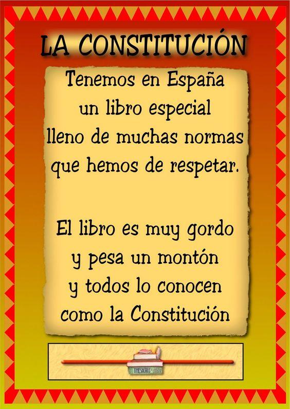 RECURSOS DE EDUCACION INFANTIL: POESÍA DE LA CONSTITUCIÓN: