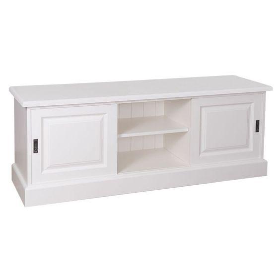 Tv-Sideboard, weiß, Landhausmöbel, Wohnzimmer, Einrichten, moderner Landhausstil