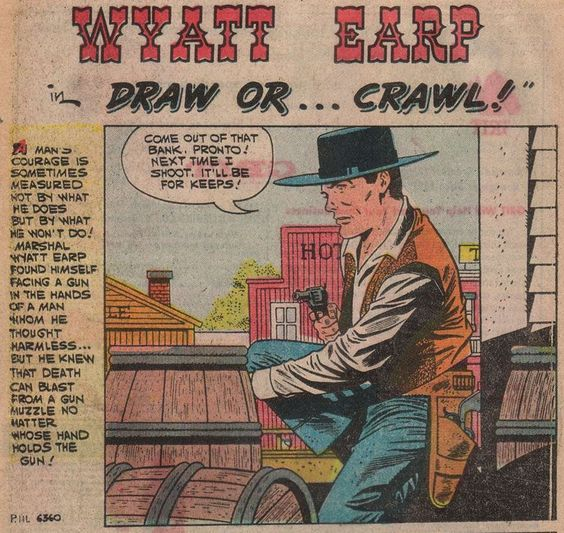 pete morisi-wyatt earp-charlton comics