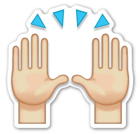 Image result for hand-raising emoji