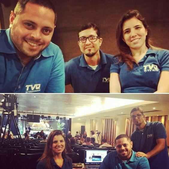 """Valeu galera, mais transmissões ao vivo hoje. Obrigado a todos! Luizão """"Farofa"""", Julia e Xandros!  #tvqinteratividade #aovivo #tcerj"""