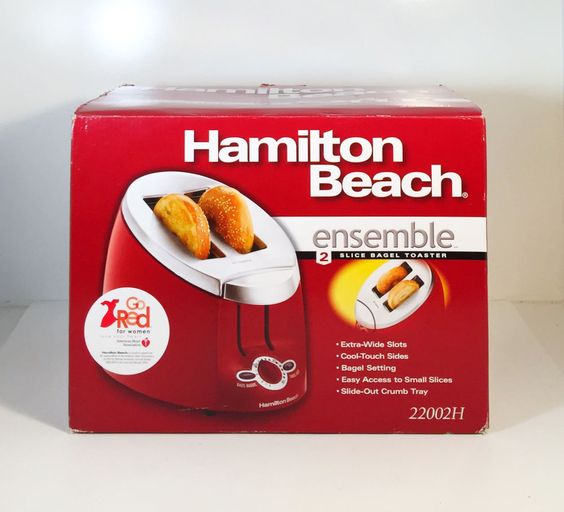 Hamilton Beach 22812 Ensemble Extra-Wide Slot 2-Slice Toaster, Red New #HamiltonBeach