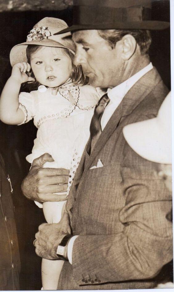 Genuine Photo Gelatin Silver American film actor GARY COOPER Daughter HOLLYWOOD