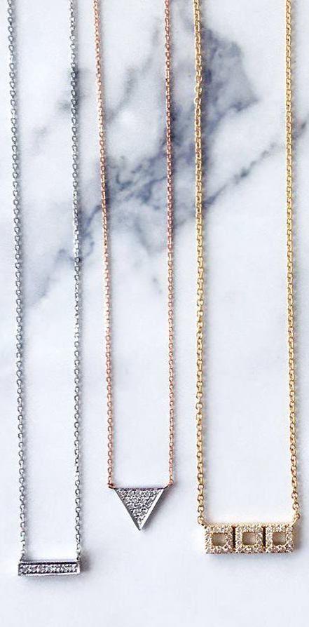 Itty, bitty, and pretty! Who doesn't love a delicate diamond necklace? #danarebecca