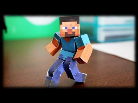 How to make the Ultimate Bendable Steve (Minecraft Papercraft) - YouTube