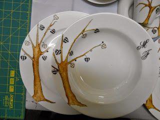 pratos pintados a mão atelier talento e cia