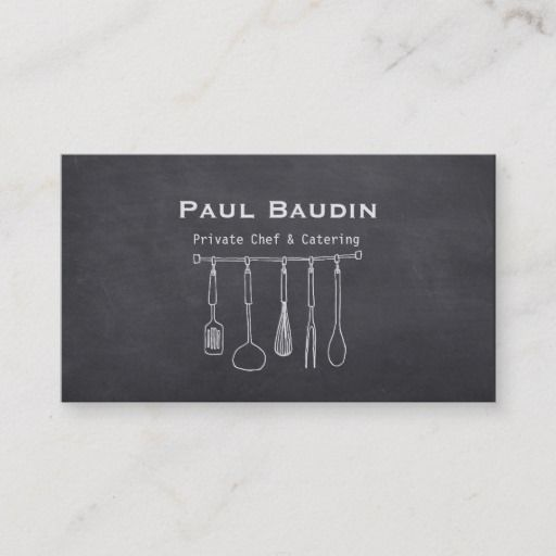 Pin On Chef Cook Business Cards