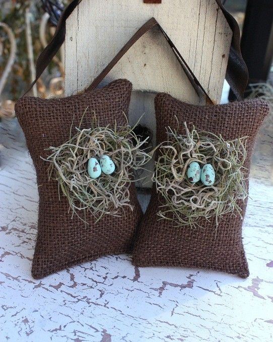 Chocolate birdnest sachets filled with by victorianstation on Etsy, $18.00