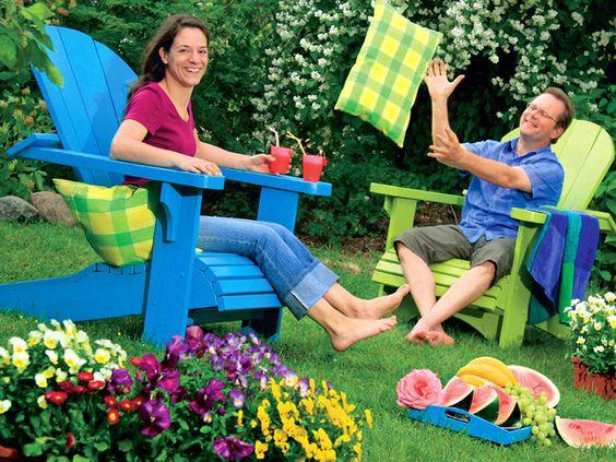 Adirondack: der etwas andere Gartenstuhl - Gartengestaltung   Dekoration - Gartenpraxis - gartenflora.de
