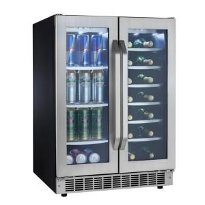 Silhouette Select 24 in. 27 wine bottle and 60 (12 oz.) Can Cooler-DBC7070BLSST at The Home Depot