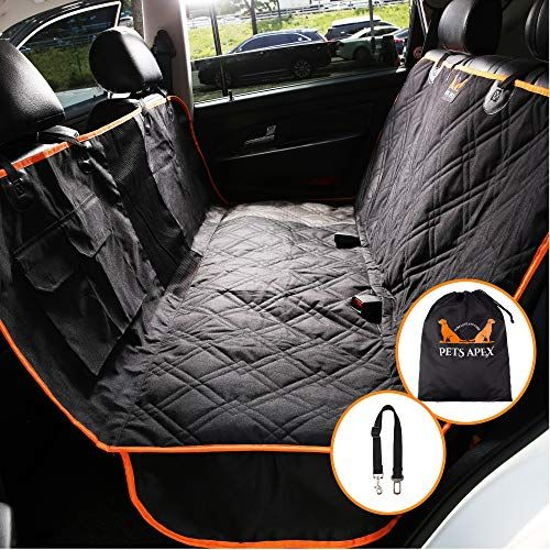 Cheap Pets Apex Dog Car Seat Covers Black Durable Heavy Duty Back Seat Cover For Small Extra Large Dogs 100 Waterproof Washable Nonslip Padded Rear Sea Dog Car