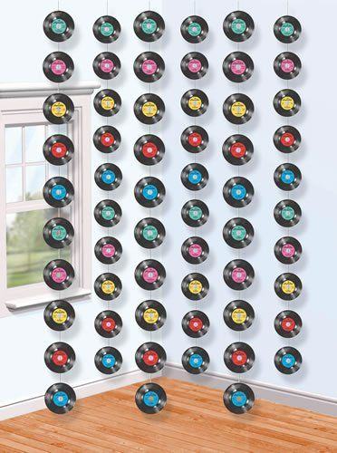 Record curtain backdrop rollerskate party pinterest for Record decoration ideas