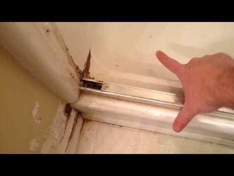 Re Sealing A Glass Shower Door On A 4 Piece Shower Youtube Glass Shower Doors Shower Doors Shower Door Seal