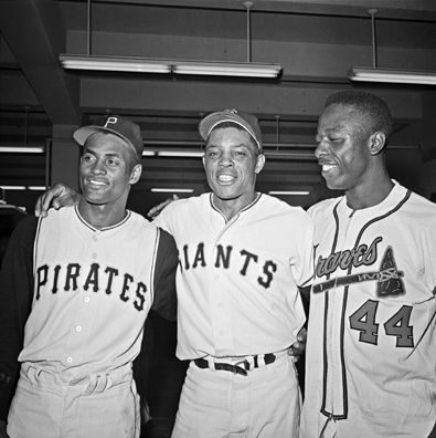 Clemente - Mays - Aaron  (the greats)  1961 All-Star game. How would like to have this outfield?