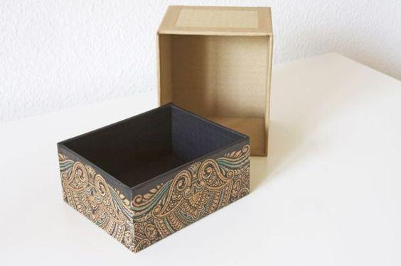 Caixinha de papelão decorada é ótima opção também para vender (Foto: deschdanja.ch)