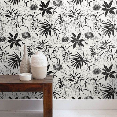 Tropical Garden Peel And Stick Wallpaper Lelands Wallpaper Peel And Stick Wallpaper Tropical Garden Tropical Wallpaper
