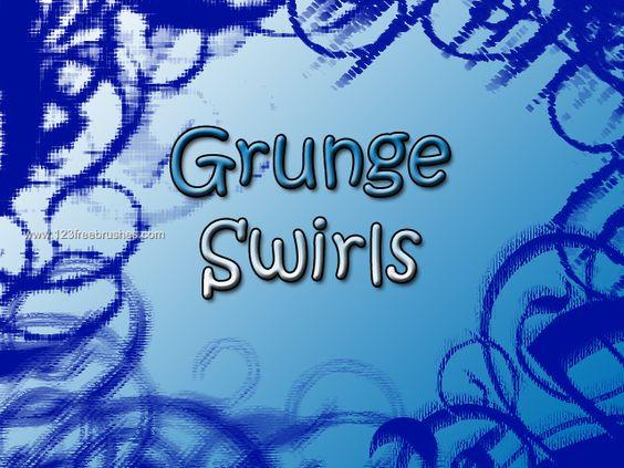 Grunge Swirls Decoration - Download  Photoshop brush http://www.123freebrushes.com/grunge-swirls-decoration/ , Published in #GrungeSplatter. More Free Grunge & Splatter Brushes, http://www.123freebrushes.com/free-brushes/grunge-splatter/   #123freebrushes