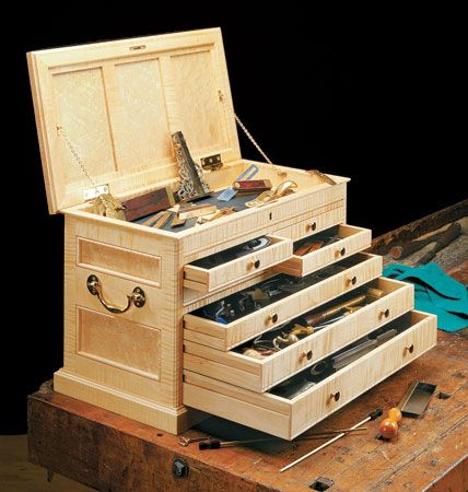 Cabinetmaker 39 s tool chest woodsmith plans wood work for Craftsman cabinet plans
