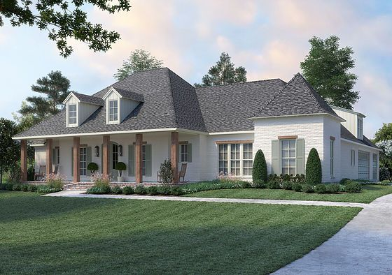 Madden Home Design The Baton Rouge Acadian House Plans Country House Plans Acadian Style Homes