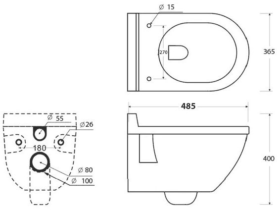 WC suspendu Compact Noir  Salle de bain 12 CF  Pinterest  Compact