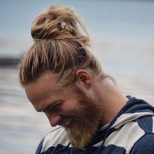 40 Best Blonde Hairstyles For Men 2021 Guide Man Bun Hairstyles Top Haircuts For Men Blonde Guys