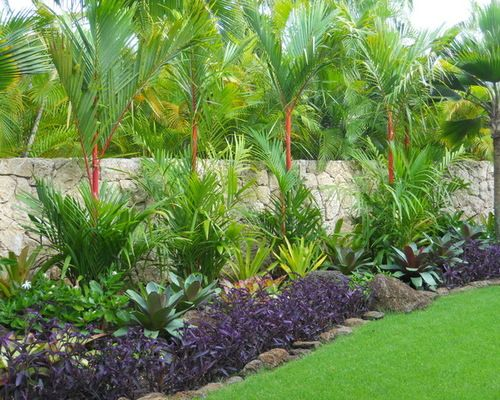 Design Of Tropical Landscaping Ideas Tropical Landscape Ideas Designs Remodels Amp Photos Jardines Tropicales Paisajismo De Patio Jardines