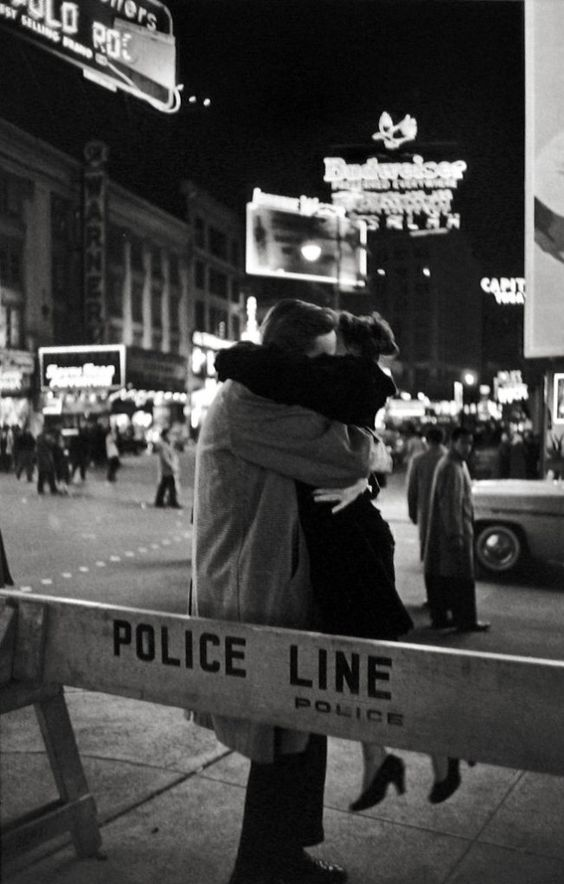 New Year's Eve in Times Square 1959 by Henri Cartier-Bresson