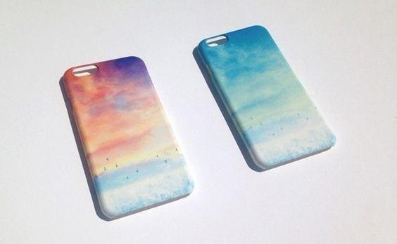 [受注制作]iPhone6Plus Case「青い、空」