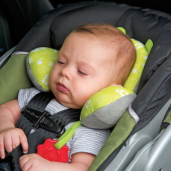 Baby travel pillow- prevents stiff necks & slumping (a thumb's up baby gift!). Could make your own too!!