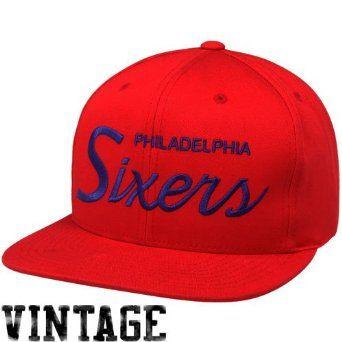 Amazon.com  Mitchell   Ness Philadelphia 76ers Red Solid Script Snapback  Adjustable Hat  Clothing  eeb23358693