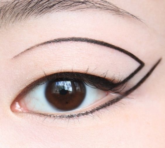 Conceptual eyeliner... Black liquid eye liner