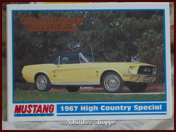 GT MUSTANG 1994 PYQCC 30th Anniversary Of The Ford Pony Car Trading Cards   Junk0874  http://ajunkeeshoppe.blogspot.com/