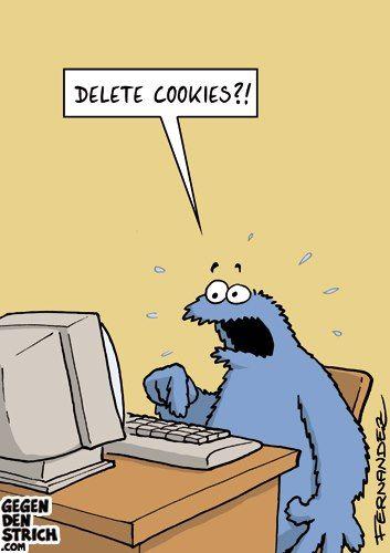Wir Online-Werber sind komplett der gleichen Meinung wie Krümelmonster: Cookies werden natürlich NICHT gelöscht!