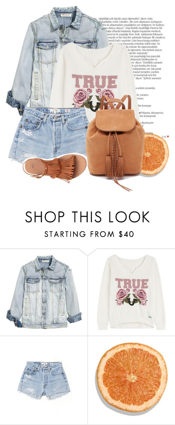 """TRUE"" by sweet-fashionista ❤ liked on Polyvore featuring Balmain, True Religion and RE/DONE"