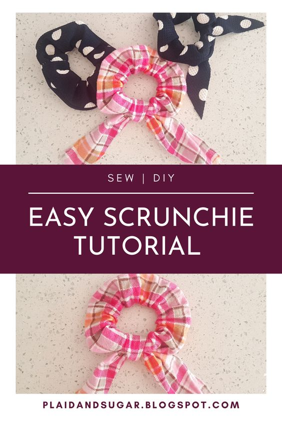 A fun and easy sewing project, make perfect birthday or Christmas gifts. These hair scrunchies are super easy to make, perfect for beginners. Easy sewing project